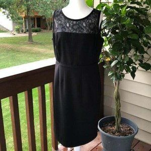 Calvin Klein Sleeveless Black Sheath Dress, 12